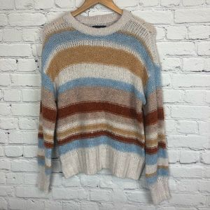American Eagle Sweater Striped Wool Blend Size Sm